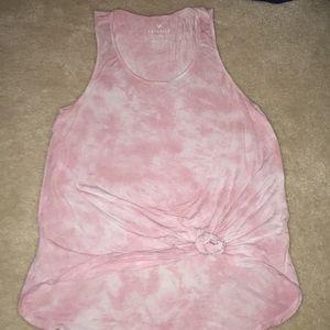Pink tie dye tank top